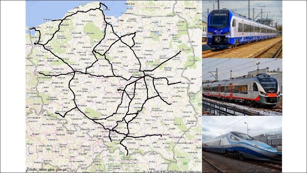 Jakość usług telekomunikacyjnych na trasach kolejowych Źródło: www.uke.gov.p
