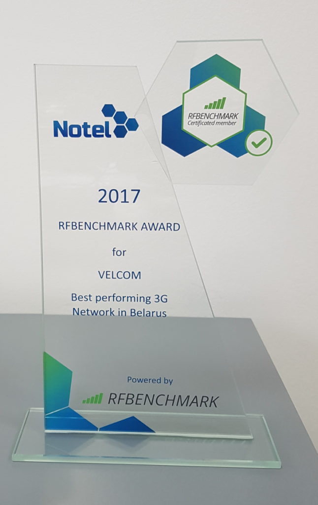 Velcom has been honored by RFBENCHMARK